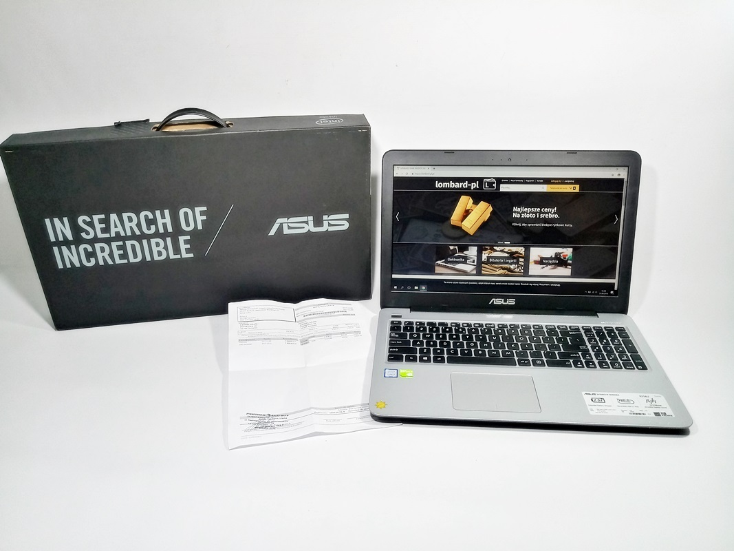 Laptop Asus  R558UQ  i5-7200U/8GB/1TB/W10/GT940MX
